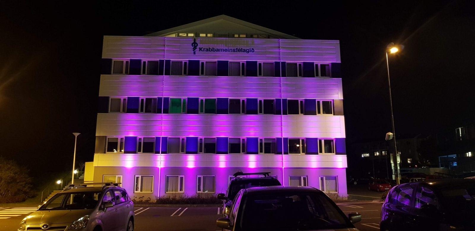 Color Kinetics light - krabbameinsfélagið